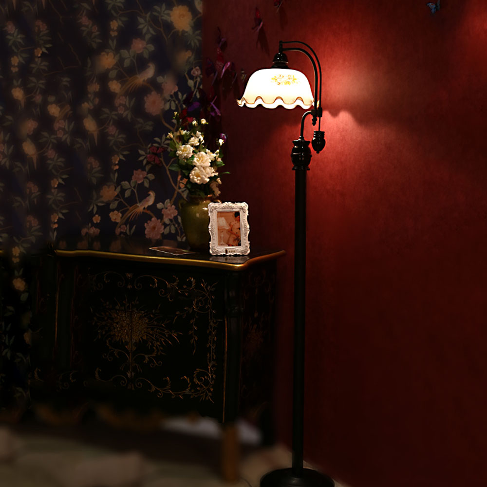 Klassischen garten retro led eisen stehlampen 110 v 220 v e27 moderne stehlampen für wohnzimmer