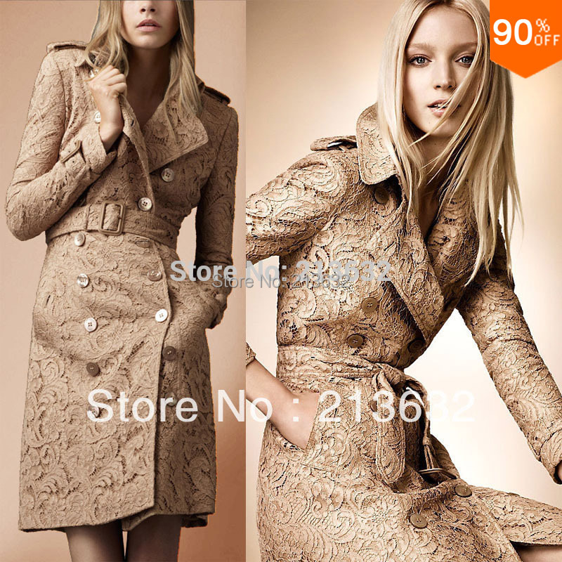 Free Shipping Lace Coat Fashion Trend Coat out wear luxury ...