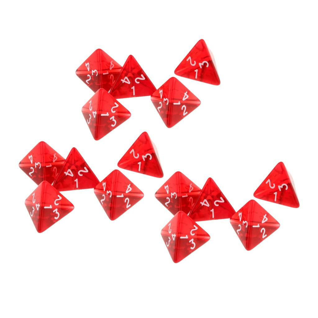 2cm polyhedral quatro face dados jogos d4 d & d dados rpg para trpg dungeons e dragões jogo de tabuleiro 15 pacote