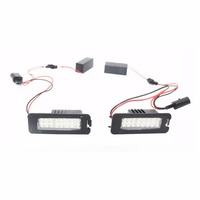 2X 18 LED Error Free Auto Light Number License Plate Light Bulbs Tail Light Fit For