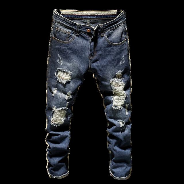 Classdim Men S Holes Skinny Denim Jeans Good Quality Men