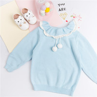 Beautiful Girls Winter Clothes Toddler Knit Tops Baby Fashion Sweater Christmas Clothes For Girl Children Warm Sweaters For Kids