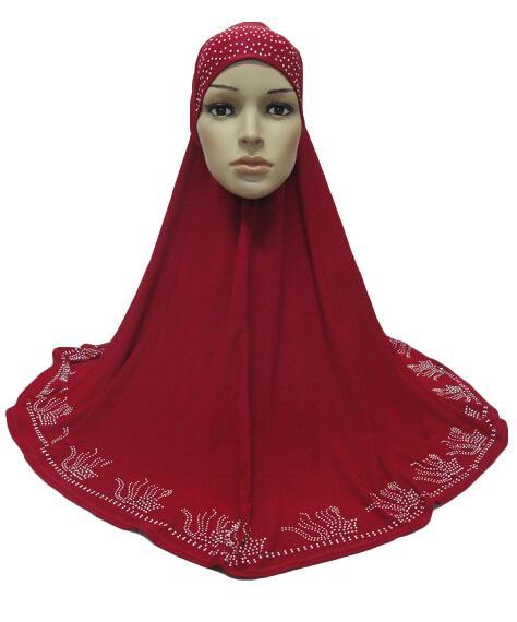 Image 5 - One Piece Hijab Scarf Muslim Amira Prayer Khimar Hat Women  Islamic Headwear Overhead Turban Headscarf Full Cover Worship  ServiceIslamic Clothing