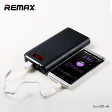 REMAX Dual USB LED Light Portable 10000 – 30000 Mah Powerbank High Capacity Power Bank External Mobile Phones PC Battery Charger