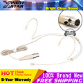 10Pcs Flesh Color Mini XLR 3 Pin Head Worn Dual Earhook Headset Microphone Headband Mic For SAMSON Wireless BodyPack Transmitter