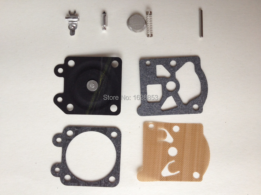 Chainsaw 4500 5200 5800 carburetor diaphragm gasket repair kit for Chinese Chainsaw 38/45/52/58 carb.rebuild kit 45 2mm cylinder piston gasket assy chinese 5800 58cc chainsaw engine rebuilt kit