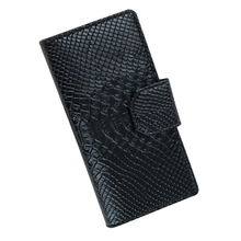 Genuine Leather Women Wallets Alligator Long Hasp Buckle Wallet Ladies Clutch