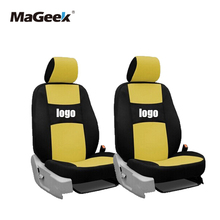 цена на two front seats Universal Car Seat Covers For Benz A B C D S Vito Viano Sprinter Maybach CLA CLK BLACK/WHITEGRAY car accessories