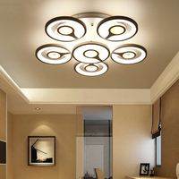 Luxury Contemporary Post Modern American Japanese Bedroom Dining Room Decor Lighting Led Round Ring Circle Ceiling Light Lamp