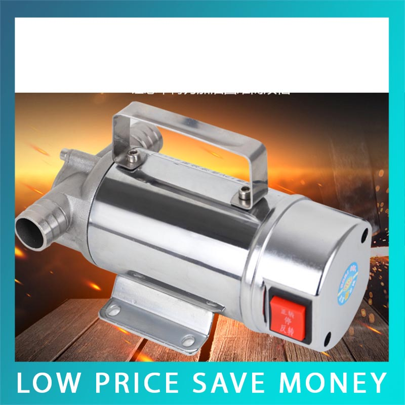 220V/12V/24V Stainless Steel Fuel Oil Pump Diesel Kerosene Oil Transfer Pump oil leakage suction pipe siphon tube hose manual fuel transfer pump sucker fuel tank180cm auto vehicle necessary ad1002