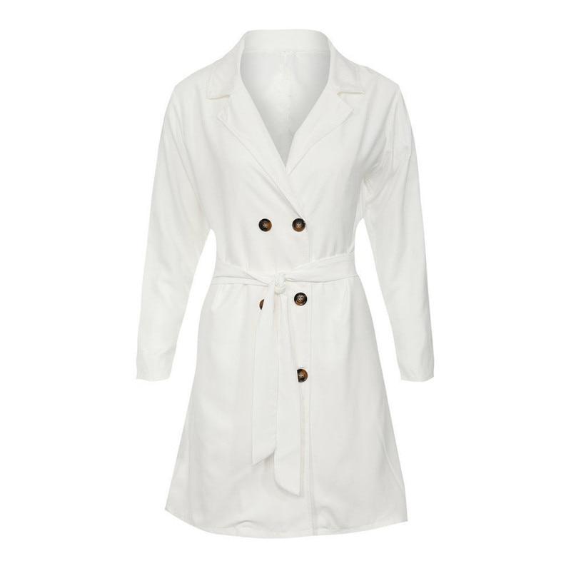 2018 Elegant Slim Trench Coat Fashion Double Breasted Casual Trench Coat For Women Plus Size Roupas Feminina Hot Classic
