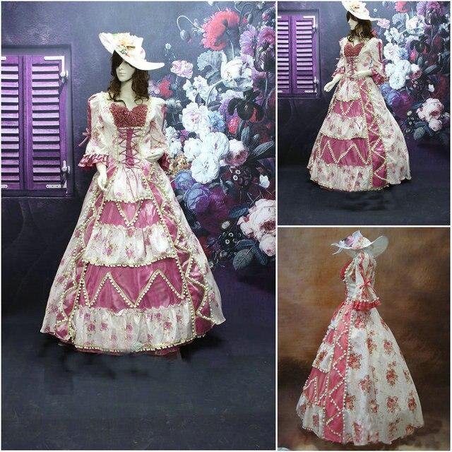 Kunde gebildete 19 Century Blau Viktorianischen Kleider 1860 s ...