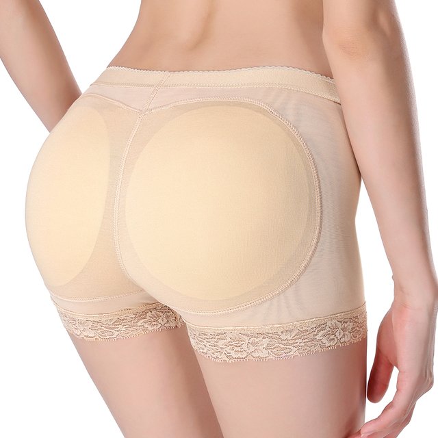 2016 New Fashion Sexy Padded Panties For Women Lady Silicone Butt Padded Underwear Hip Padding Enhancer Shaper Panties Underwear