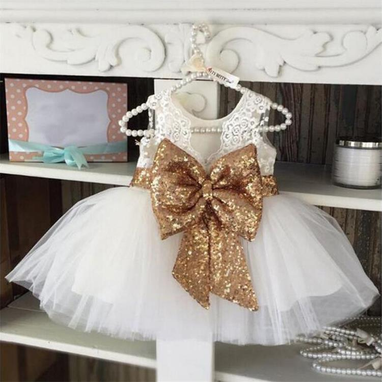 Neue Mädchen Kleid Minnie Spitze Pailletten Kleid Kinder Kleidung - Kinderkleidung - Foto 4