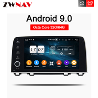 Android 9.0 Car dvd multimedia player head unit for Honda CRV 2017 car with gps navigation autoradio video BT Wifi type recorder
