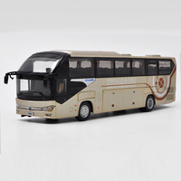 1:42 Diecast Model for Yutong ZK6128HQB Bus Alloy Toy Car Miniature Collection Gifts ZK6120R41