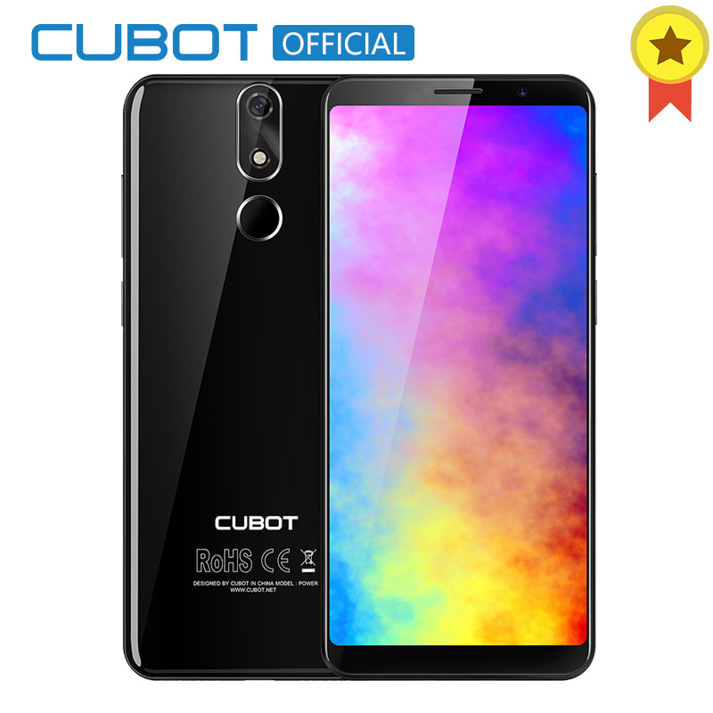 Cubot Power Android 8.1 MT6763T(Helio P23) Octa Core 6GB RAM 128GB ROM 5.99 Inch FHD+ 6000mAh Smartphone 16.0MP Celular 4G LTE