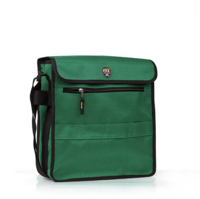 FASITE Large Size Professional Electricians Tool Bag Hard Plate Kit Tool Bag Set Kit Bag Green