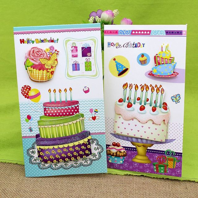 16 pieceslot3d stereo cake handmade birthday greeting card with 16 pieceslot3d stereo cake handmade birthday greeting card with envelope happy bookmarktalkfo Choice Image