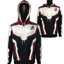 Avengers Endgame Jacket Hoodie Cosplay Quantum Realm Costumes hoodies Marvel Superhero Sweatshirt Coat Suit Costume