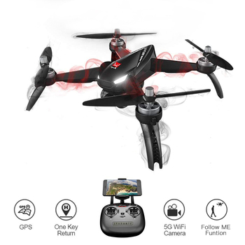 Global Drone B5W Follow Me RC Dron Hign Hold FPV Quadrocopter Brushless Motor GPS Professional HD Drone with Camera 1080P dronex pro