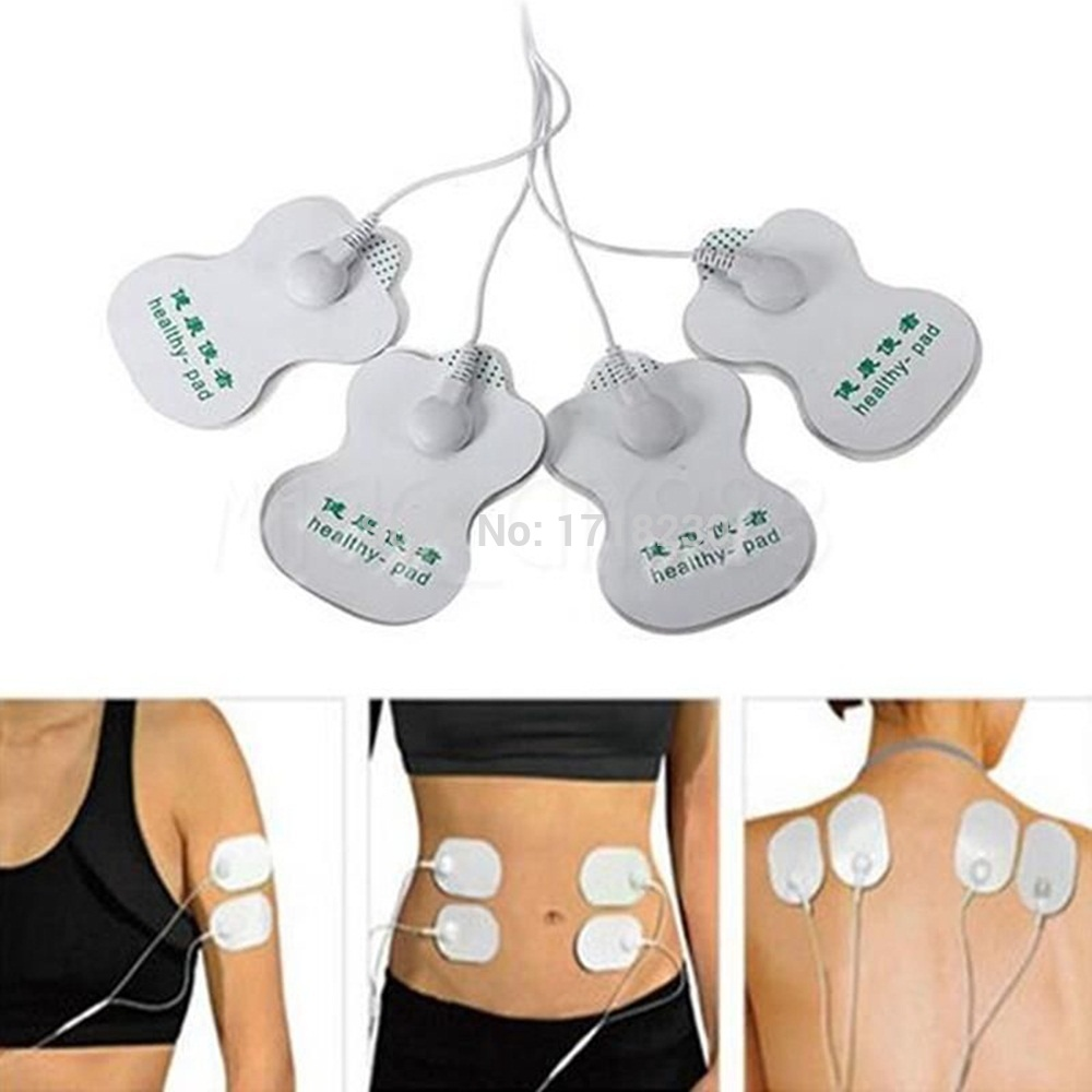 Tens Digital Therapy Full Body Massager  Slimming Pulse Muscle Relax Massage Electric Slim 4 Pads Pain relief Fitness
