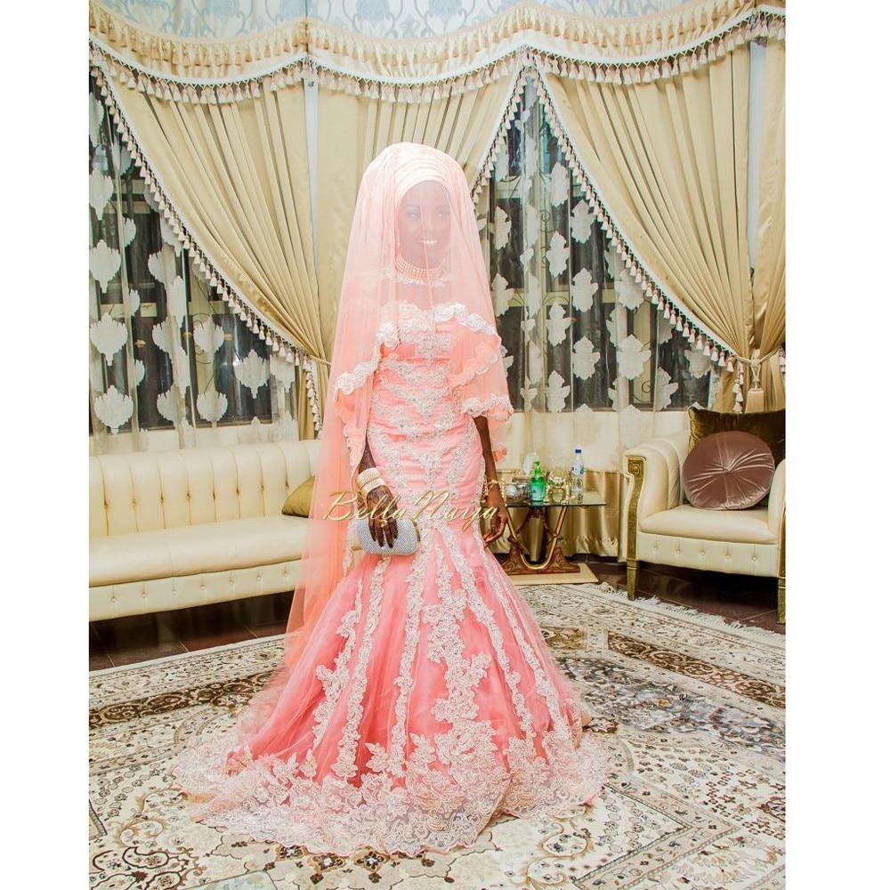 3/4 Mangas 2016 Africano Musulmán Árabe vestidos de novia Vestido de ...