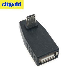 Image 3 - Cltgxdd USB Weiblichen zu Micro USB Männlich 90 Grad Nach Unten rechts Winkel Links Winkel UP OTG Adapter Für handy MP3 Schwarz Stecker