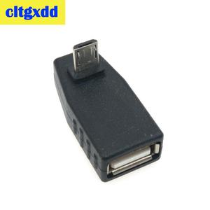 Image 3 - cltgxdd USB Female to Micro USB Male 90 Degree Down right Angle Left Angle UP OTG Adapter For Mobile phone MP3 Black Connector