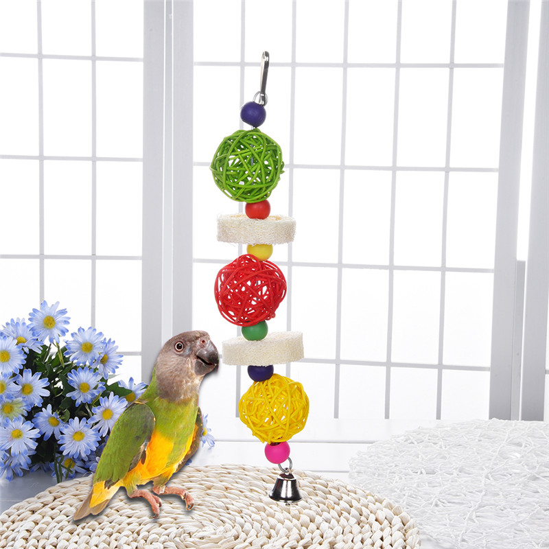 Small Toy Parrots : Parrot hanging bitten and chewed hand grasp toys for birds