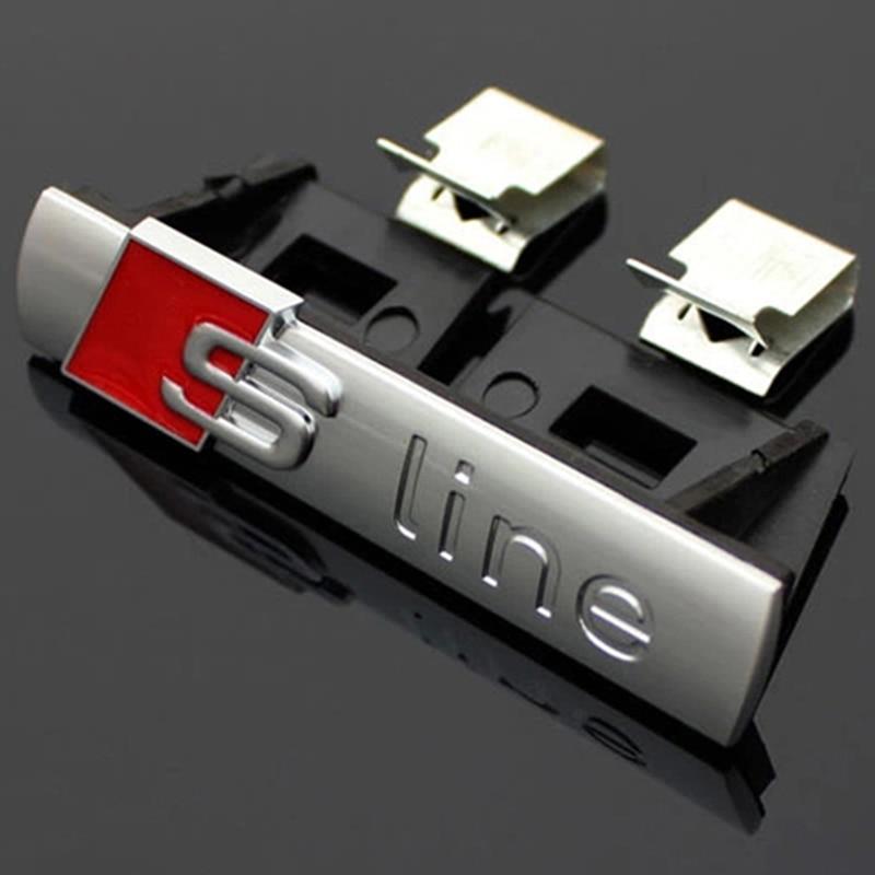 S Line Sline Front Grille Emblem Badge Sticker Chromed Plastic ABS -Front grille mount for Audi S3 S4 S5 S6 S8 A1 A3 A4 A5 A6 A7 s line sline front grille emblem badge chromed plastic abs front grille mount for audi a1 a3 a4 a4l a5 a6l s3 s6 q5 q7 label