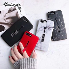 HOMISAYON For iphone6s 6 7 8 Plus XS MAX XR Fashion Marble silicon Ring Phone Cases