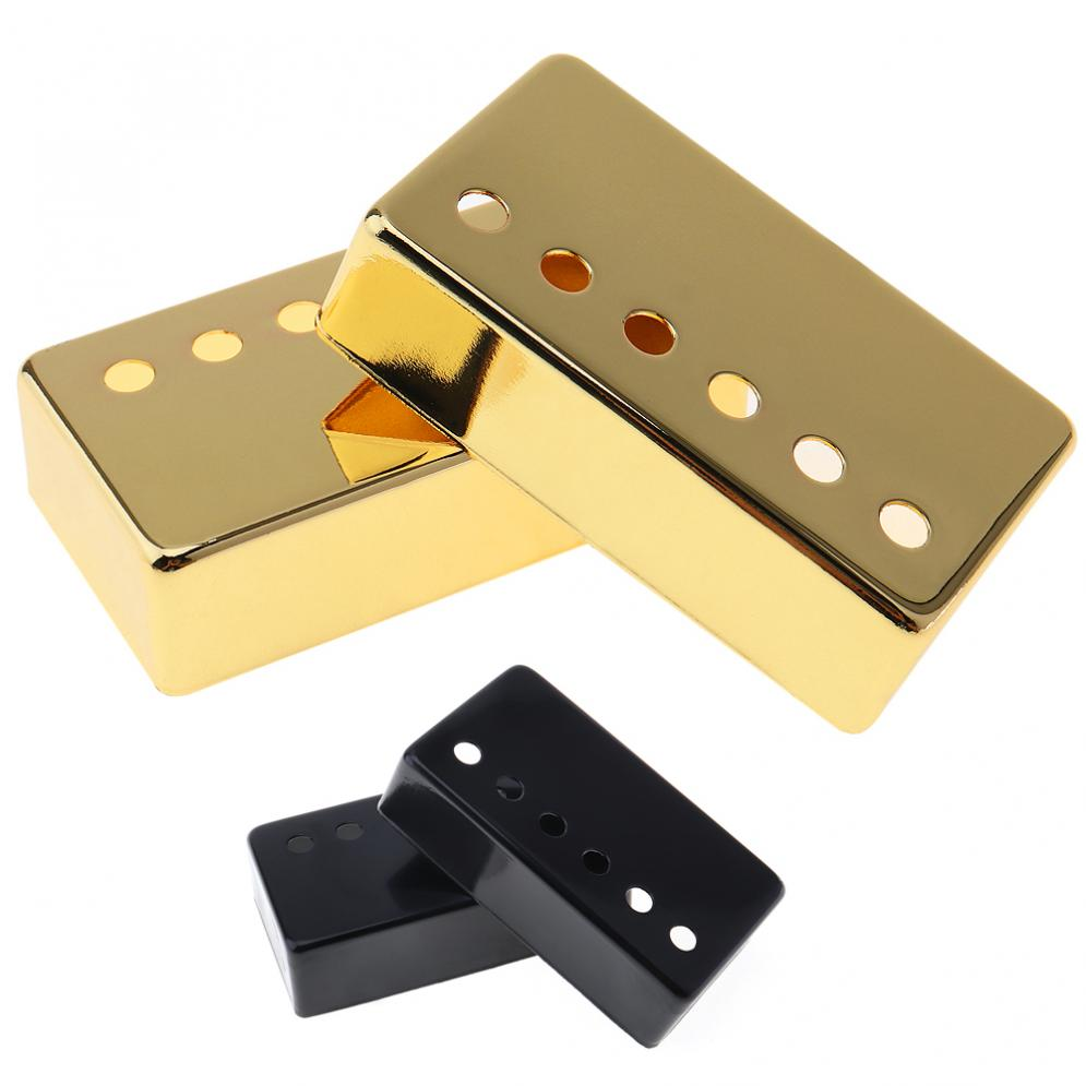 12b1c594dad 2 pcs/set Metal Guitar Humbucker Pickup Cover 50/52mm for LP Guitar  Black/Gold