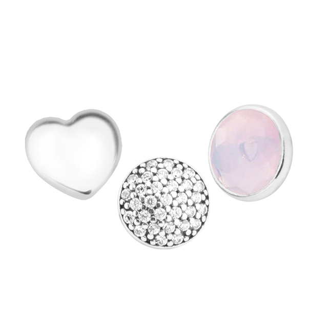 Fits Locket Pendant Necklace Genuine 925 Sterling Silver October Petites Charm Beads for Women DIY Jewelry Party Gift kralen