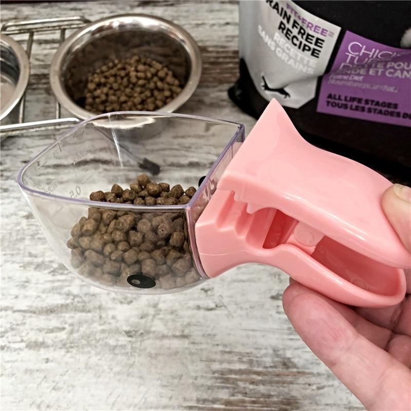 Pet Food Spoon Measuring Cup Multifunction Bag Sealing Clip Pet Cat Dog Food Feeding Scoop Spoon