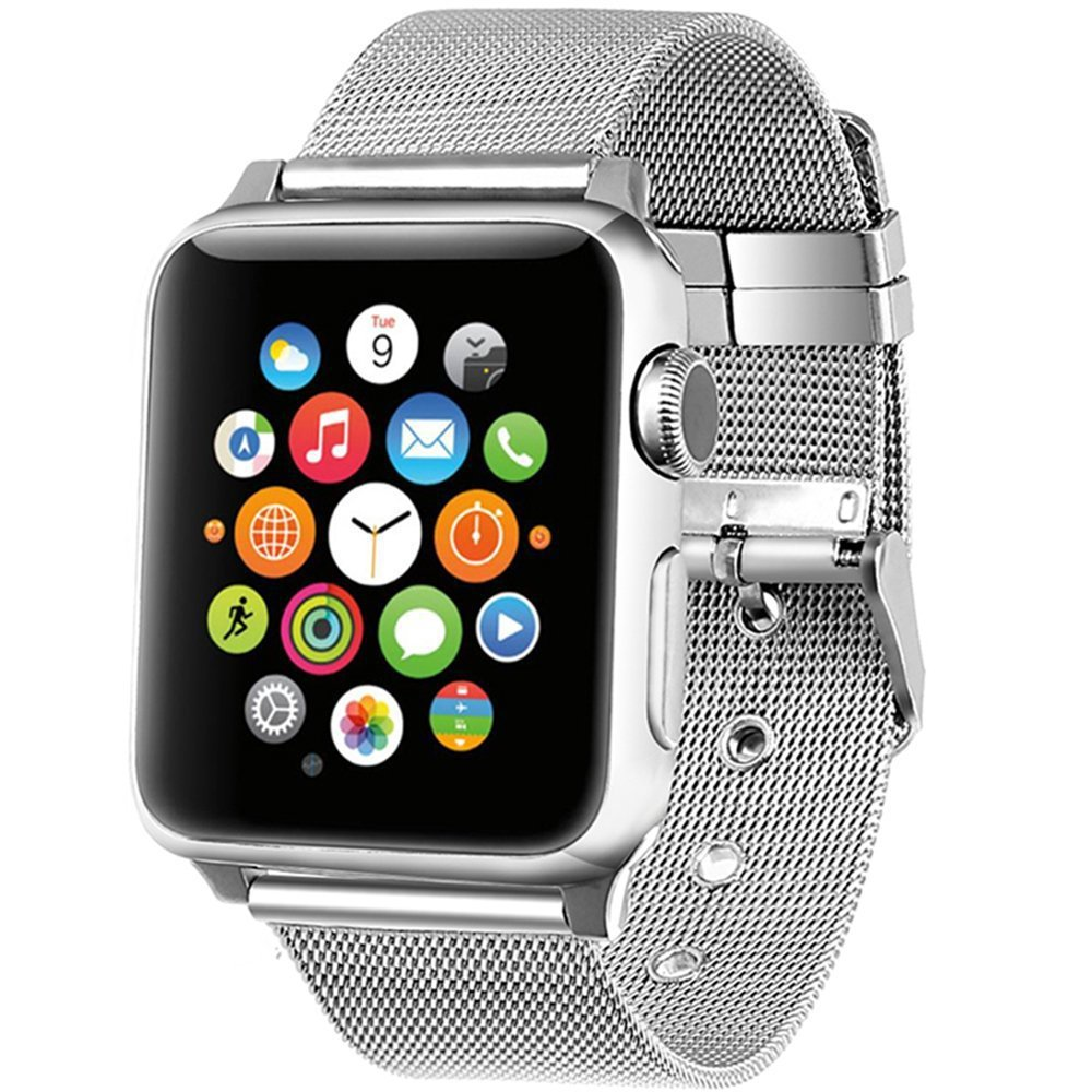 Milanese Stainless Steel Band for Apple Watch 38mm 42mm Band Milanese Loop for Iwatch Series 1 2 3 Band Steel Needle Buckle Top аксессуар набор петелек bling my thing allure loops apple watch 38 42mm pink aw loop pk cry