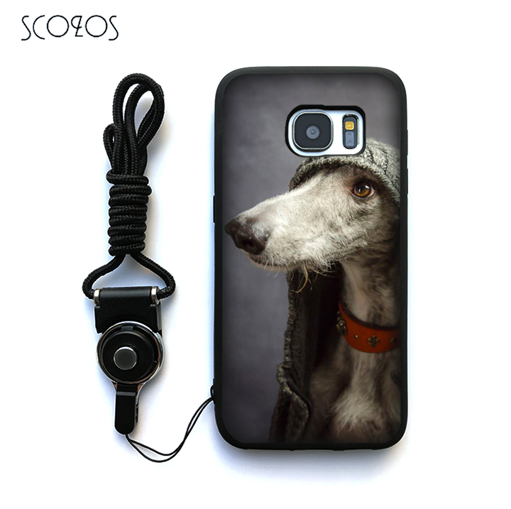 SCOZOS galgo greyhound dog 2 Silicone Phone Case Cover For Samsung Galaxy S6 S7 S7 edge S8 S8 Plus J3 J5 J7 A3 A5 A7 2016 Note 8
