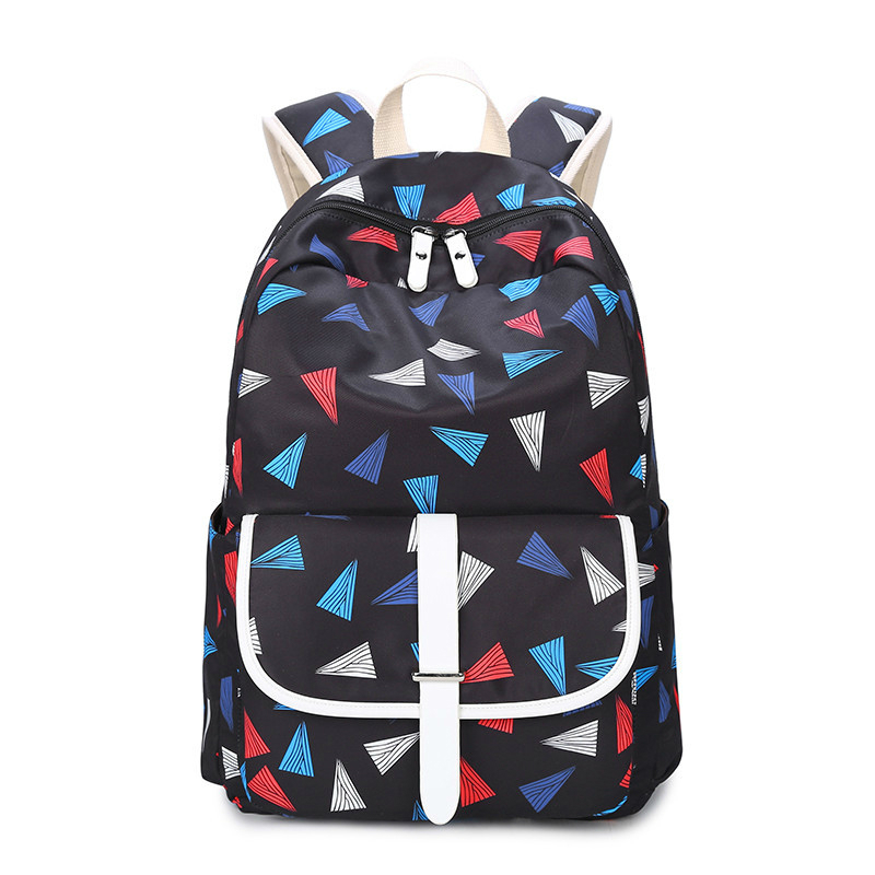 2017 New Fashion Dot Canvas Backpack Waterproof Canvas Lady Laptop Backpacks Female Casual Travel bag Bags