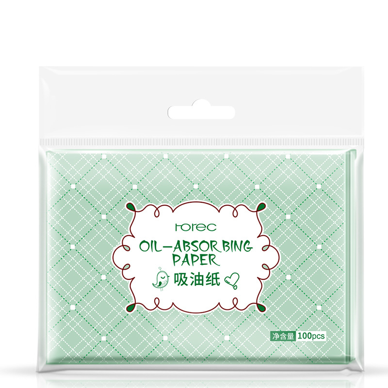 100 Sheets/pack  Professional  Face Make Up Oil Absorbing Blotting Facial Clean Paper Oil Control Film Tissue(China)