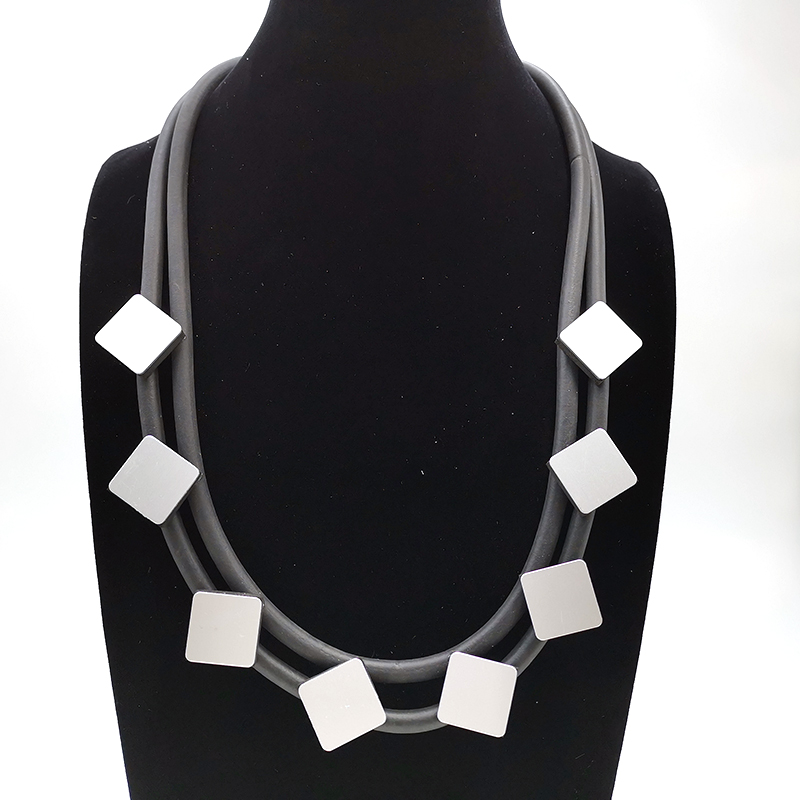Купить с кэшбэком YD&YDBZ Weird Hand Design Necklace Aluminum Jewelry Rubber Collar Necklaces New Gothic Style Street Women Dress Jewellery Choker