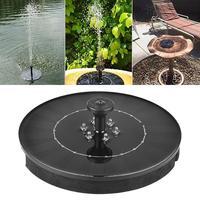 2.4W LED Ground Solar Fountain Pump Garden Solar Fountain Solar Panel With Submersible Pump For Bird Bath Garden Fountain