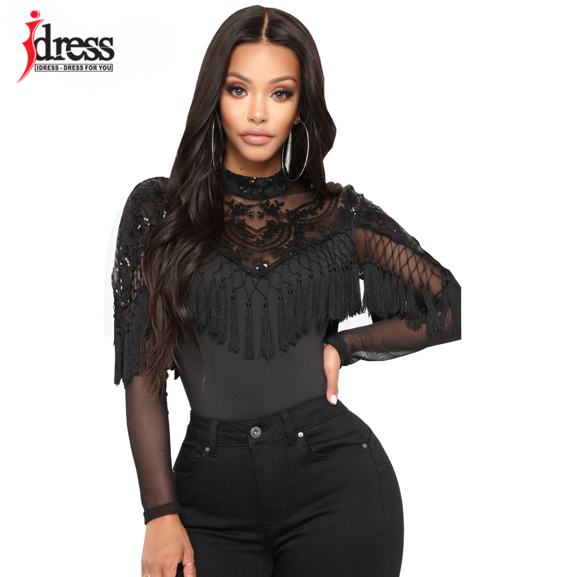 IDress Bodycon Sexy Jumpsuit Overalls Sexy Bodysuit Overalls Long Sleeve Rompers Womens Jumpsuit Combinaison Femme Club Bodysuit (5)