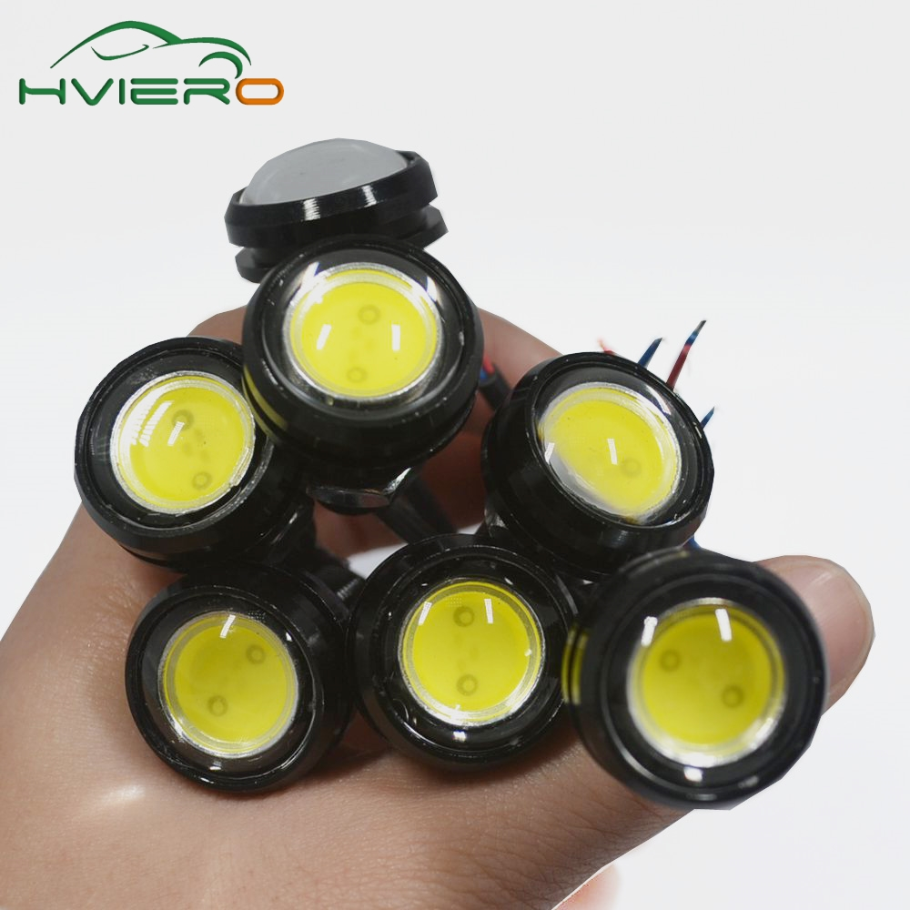 1X 23mm Eagle Eye Light 9w Dc 12v Car Led Daytime Running Light Drl Backup Car Motor Parking Signal Lamps Waterproof Fog Light geetans newest 10pcs led eagle light eye car fog light drl daytime running lights reverse backup signal parking black silver be