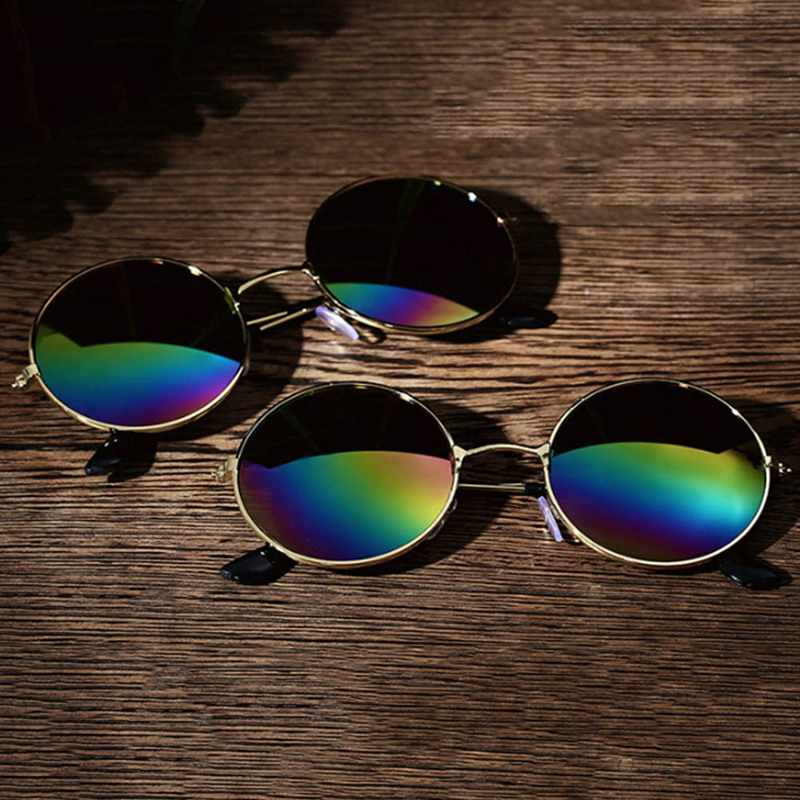 1688582eb492 ... Glasses Fashion Vintage Polarized Sunglasses Colorful Round Eyewear  High Quality Sunglasses For Men Women ...