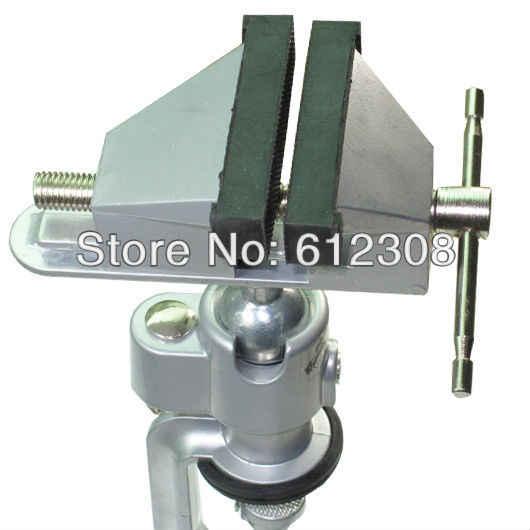 Настольная регулируемая опора большого размера из алюминиевого сплава, настольные тиски, тиски, зажимы, подставка-держатель, устройство, рабочий инструмент, вращающаяся головка