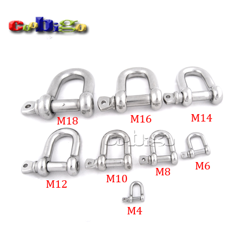 2 pc//s Galvanised steel D-shackle for rope 5mm for rope chain