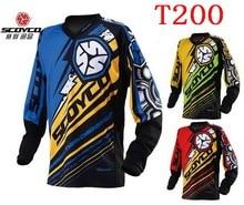 Новый SCOYCO Мотоциклов Конкурентоспособная XC Футболка Профессиональный гоночных костюмах Влагу дышащий Джерси T200 Красный Синий Зеленый 3 цвет