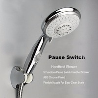WASOURLF Large 5 adjust multifunctional with switch hand shower nozzle shower head shower head bathroom accessories