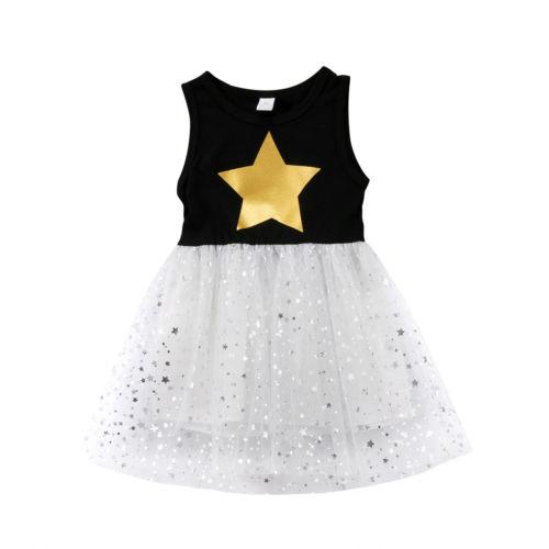 Cute Baby Girls Sleeveless Kids Tulle Tutu Party Wedding Dress Princess Clothes