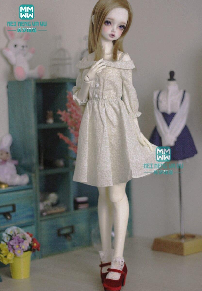 BJD Doll Clothes For 60cm 1/3 BJD Doll Fashion Print Dress Quality Temperament Dress